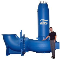 Eine übermannshohe ABS Pumpe